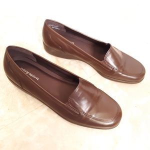 Easy Spirit Deybell brown loafers shoes size 8.5
